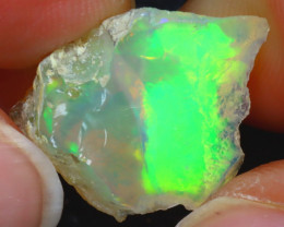12.30Ct Multi Color Play Ethiopian Welo Opal Rough H2407/R2