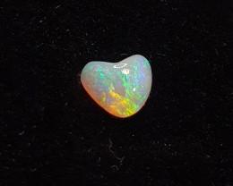 Australian Solid Crystal Opal Heart. Polished Gemstone