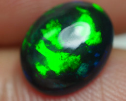 1.420 CRT BRILLIANT SMOKED GREEN MIX BLUE RIBBON PLAY COLOR WELO OPAL-
