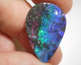 17.1ct Boulder Opal Polished Stone (B109)