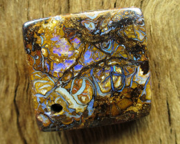 42 cts. $1nr; DRILLED PATTERN YOWAH OPAL.