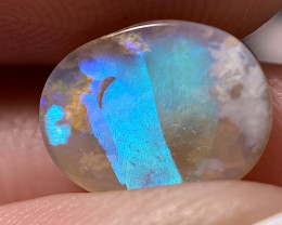 .83ct Rare feather pattern opal from Lightning Ridge
