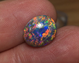 5.12ct Lightning Ridge Black Crystal Opal FM433