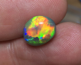 Double Sided 4.89ct Lightning Ridge Black Opal FM442