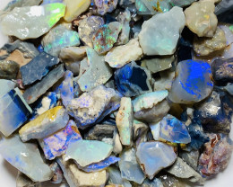 310 CTs Colourful Rough Seam Opals With Potential to Gamble #1829
