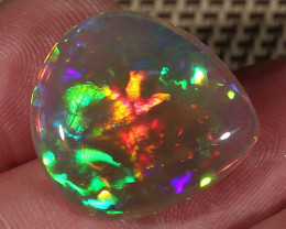 13.13CT~BRILLIANT DARK BASE WELO OPAL~FLORAL PATTERN!!!!!!