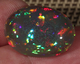 13.90CT~BRILLIANT DARK BASE WELO OPAL~HONEYCOMB/PRISM PATTERN!!!!!!