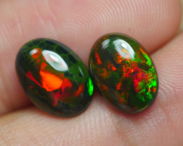 2.775 CRT 2 PCS PAIR BEAUTY PARCEL WELO OPAL SMOKED -