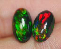 2.345 CRT 2 PCS PAIR BEAUTY PARCEL WELO OPAL SMOKED -