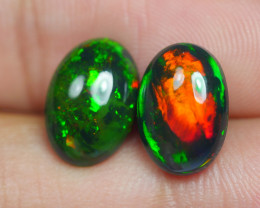 4.305 CRT 2 PCS PAIR BEAUTY PARCEL WELO OPAL SMOKED -