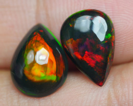 3.070 CRT 2 PCS PAIR BEAUTY PARCEL WELO OPAL SMOKED -