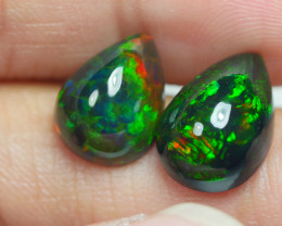 5.030 CRT 2 PCS PAIR BEAUTY PARCEL WELO OPAL SMOKED -