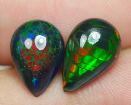 3.475 CRT 2 PCS PAIR BEAUTY PARCEL WELO OPAL SMOKED -