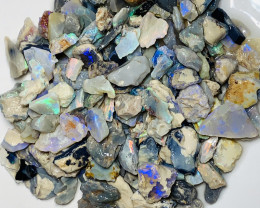 370 CTs Colourful Rough Seam Opals of Lightning Ridge To Gamble# 1848