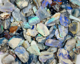 420 CTs Colourful & Potential Rough Seam Opals#1853