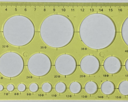 20cm CircleOpalTemplate Yellow [29685]