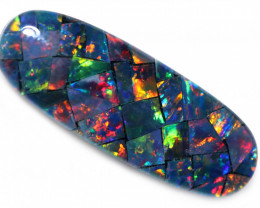 4.60 CTS OPAL MOSAIC  NATURAL TRIPLET  [SEDA7742] last in stock