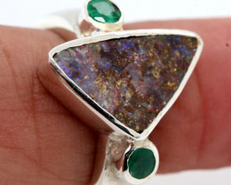 29.0 CTS BOULDER OPAL RING OF-2762