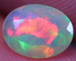 0.66 CT 8X6 MM Broadflash Pattern!! Welo Ethiopian Faceted Opal-DF924