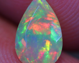 0.73 CT 9X6 MM Chaff Pattern!! Welo Ethiopian Faceted Opal-DF926