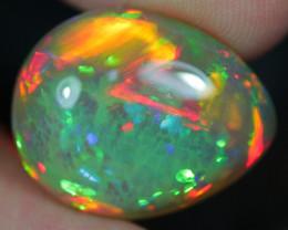 15.92CT 22X18MM Broadflash HoneyComb!! Welo Ethiopian Opal BEE1-34