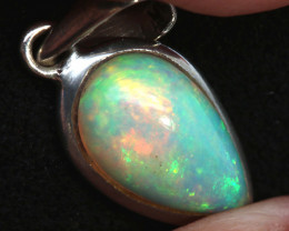 6.80 CTS ETHIOPIAN OPAL SILVER PENDANT     OF-2769