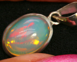 6.90 CTS ETHIOPIAN OPAL SILVER PENDANT     OF-2770