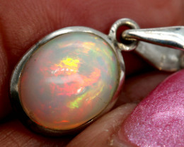 6.50 CTS ETHIOPIAN OPAL SILVER PENDANT     OF-2772