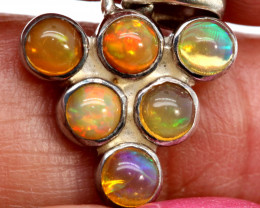 9.55 CTS ETHIOPIAN OPAL SILVER PENDANT     OF-2775
