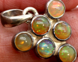 9.50 CTS ETHIOPIAN OPAL SILVER PENDANT   OF-2776-opalsforever