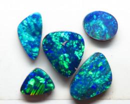 Free form 5 Stone Australian Doublet Opal Parcel