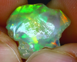 7.60Ct Multi Color Play Ethiopian Welo Opal Rough HF0111/R2