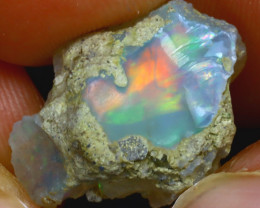 8.80Ct Multi Color Play Ethiopian Welo Opal Rough HF0113/R2