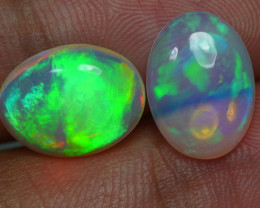 4.890 CRT BRILLIANT 2 PCS PAIR BEAUTY MULTICOLOR WELO OPAL-
