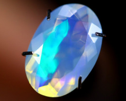 2.33cts WaterClear Natural Ethiopian Faceted Welo Opal /BF4294