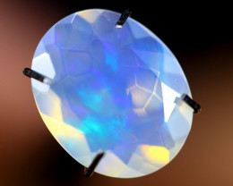 1.54cts WaterClear Natural Ethiopian Faceted Welo Opal /BF4295