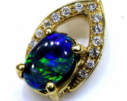 7.10 CTS   BLACK OPAL 18K GOLD PENDANT     OF-605