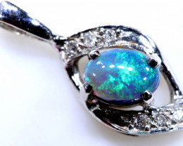 8.25 CTS  BLACK OPAL GOLD PENDANT OF-2533-opalsforever