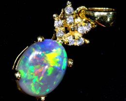 8.5  cts   BLACK OPAL PENDANT /18k  OF-582