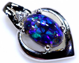 7.75 BLACK OPAL PENDANT /gold 18k  OF-581