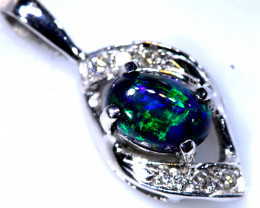 8.65 CTS  BLACK OPAL GOLD PENDANT OF-2534