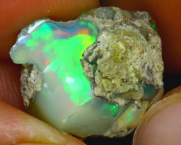 12.96Ct Multi Color Play Ethiopian Welo Opal Rough J0205/R2
