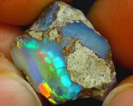 9.79Ct Multi Color Play Ethiopian Welo Opal Rough H0308/R2
