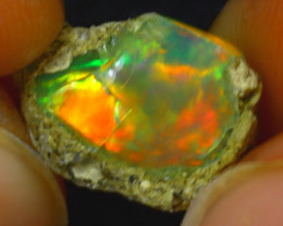 5.50Ct Multi Color Play Ethiopian Welo Opal Rough J0415/R2