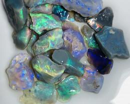 40 CTs Lightning Ridge Bright Rough Opals to Cut (video plz) #1911