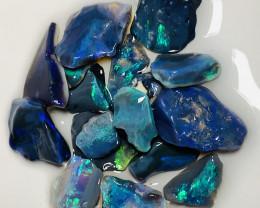 Black Opals to Cut- 38 CTs Rough Bright Black Seams#1912