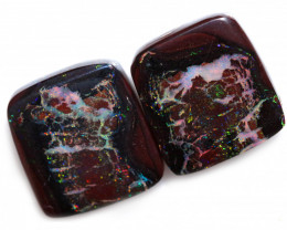 35.60 CTS STUNNING BOULDER PAIR OPAL FROM KOROIT [BMB462]