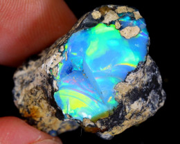 24cts Natural Ethiopian Welo Rough Opal / WR4891