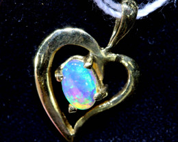 4.40 CTS  CRYSTAL OPAL  18K SOLID GOLD PENDANT  OF-2515