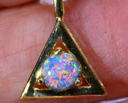 5.95 CTS  CRYSTAL OPAL GOLD PENDANT  OF-2523